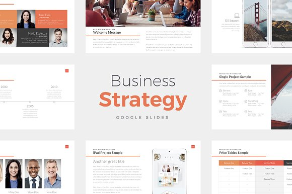 business strategy google slides presentation templates creative