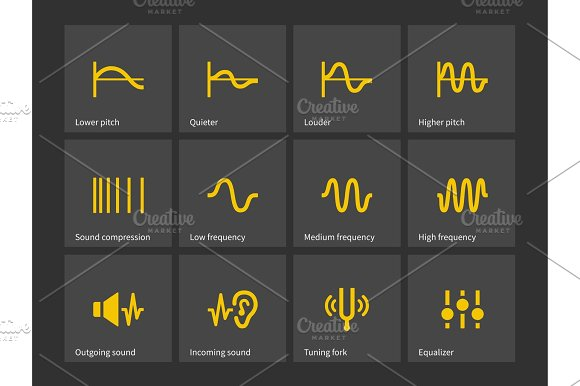Wave And Equalize Audio Icons