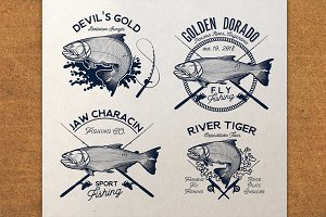 Golden Dorado Fishing Logo.