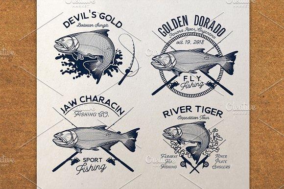 Golden Dorado Fishing Logo