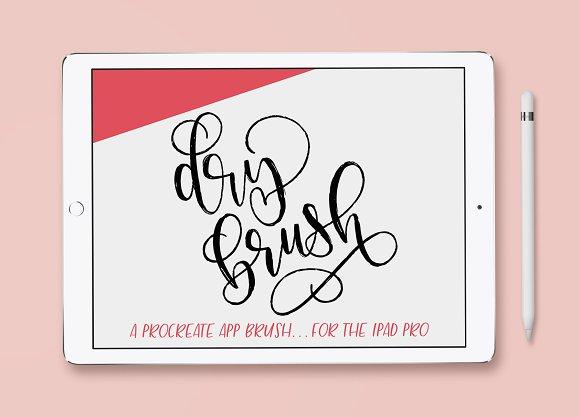 IPad Lettering Brush Dry Brush