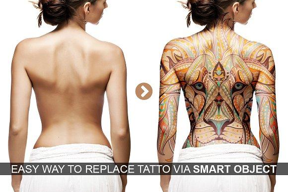 Download Realistic Tattoo Mockup