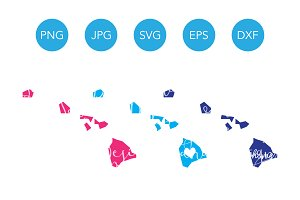 Hawaii SVG Cut Files and Clipart