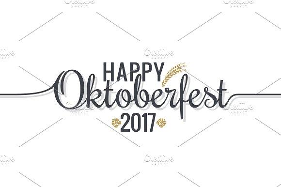Oktoberfest Logo Lettering On White