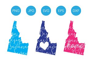 Idaho SVG Cut Files and Clipart