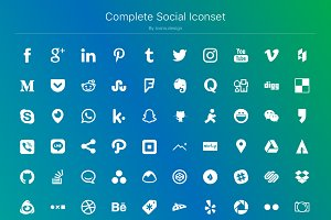 Complete Social Iconset