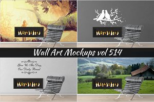Wall Mockup - Sticker Mockup Vol 514