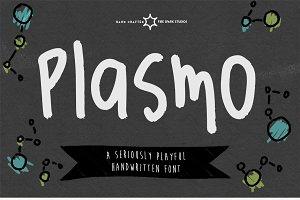 Plasmo - A Playful Hand Written Font