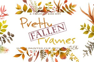 Pretty Fallen Frames Clip Art