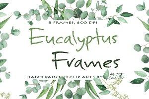 Eucalyptus Frames Clip Arts