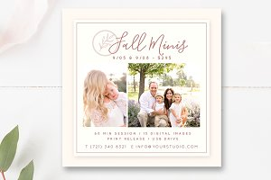 5x5 Fall Mini Session Template