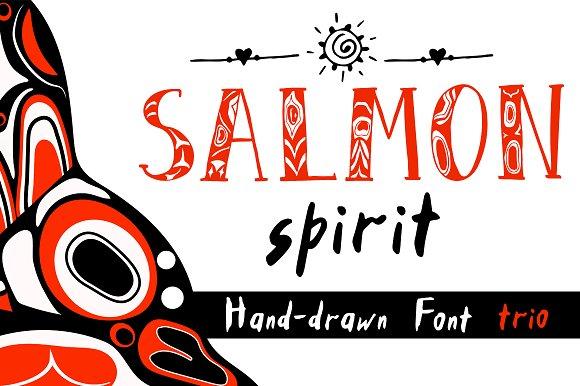 Salmon Spirit Font Trio