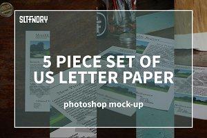 5 US Letter paper Mockups