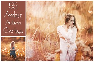 55 Dreamy Autumn Light Overlays