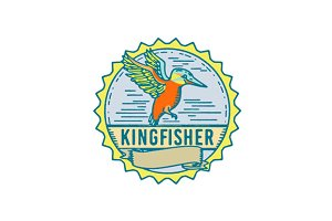 Kingfisher Side Rosette Retro
