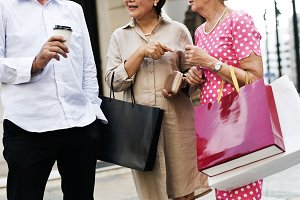 Senior friends shopping lifestyle