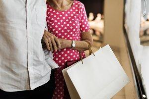 Senior couple shopping lifestyle