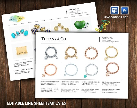 line sheet template id29 stationery templates creative market