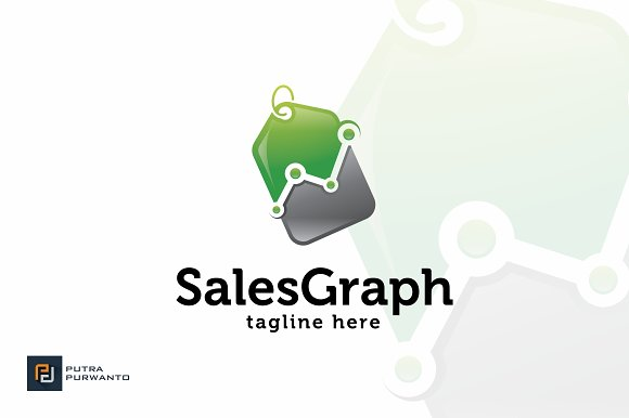 Sales Graph Logo Template