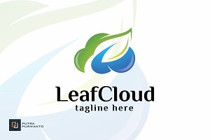 Leaf Cloud - Logo Template