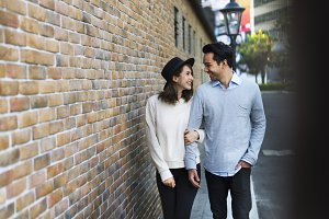 Sweet Couple Dating Together