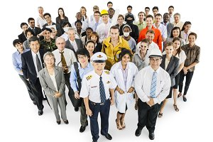 Diverse group of people (PNG)