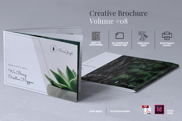 Creative Brochure Template -Graphicriver中文最全的素材分享平台