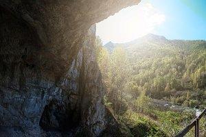 Denisova caves in Altai