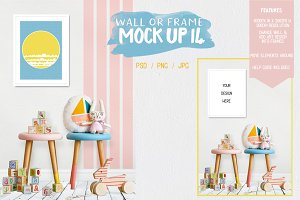 Kids Room Wall/Frame Mock Up 14