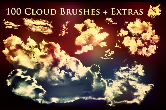 100 Cloud Brushes Extras
