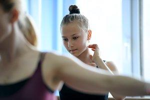 Thoughtful baller dancer rehearsal