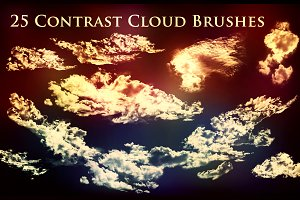 25 Contrast Cloud Brushes