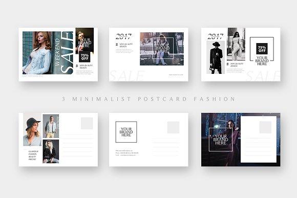 3 Fashion Sales Postcard