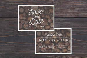 Rustic Save The Date Template