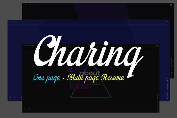 Charing Personal HTML Template