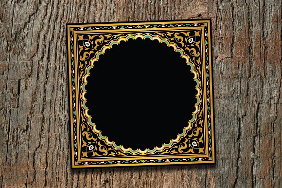 Arabic Golden Floral Template
