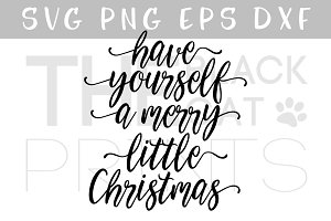 Merry little Christmas SVG DXF PNG
