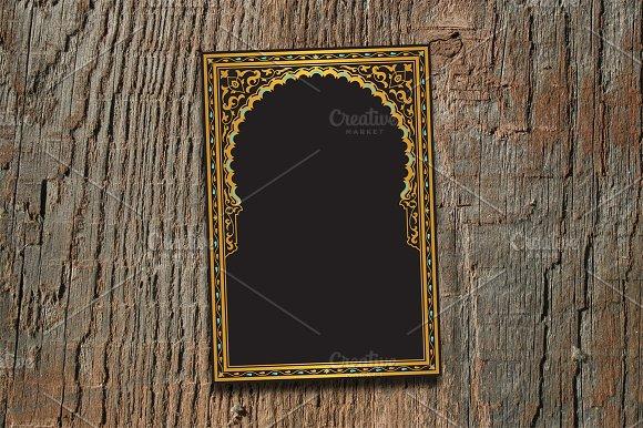 Arabic Golden Arch Template