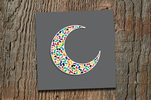 Abstract Colourful crescent