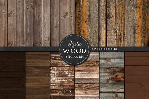 Rustic Distressed Wood Texture Pack