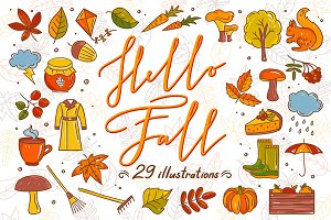 Hello Fall Illustrations