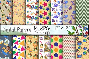 Nutcracker digital papers