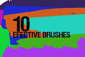 10 Awesome Brushes PNG & PSD