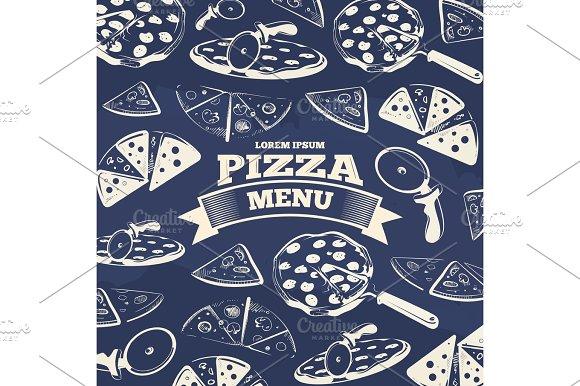 Vintage Pizza Menu Cover Design