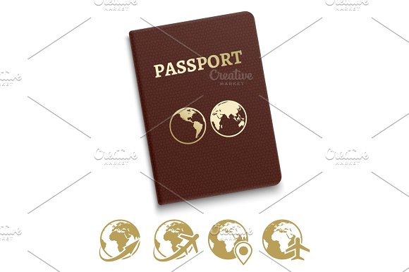 Red Cover Passport And Travel