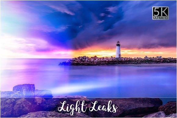 5K Light Leaks Overlays-Graphicriver中文最全的素材分享平台