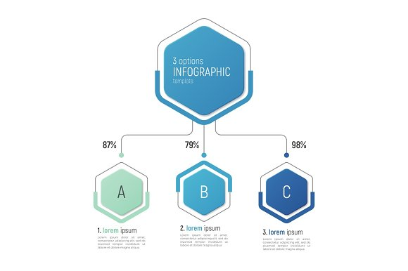 Iinfographic Template For Data Visualization 3 Options