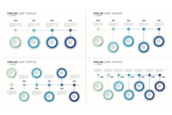 Timeline Chart Infographic Template For Data Visualization 4-7