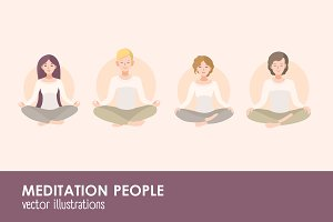 Meditating people