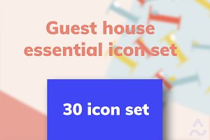 Guest house 30 icons